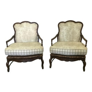 Country French Bergere Chairs - A Pair