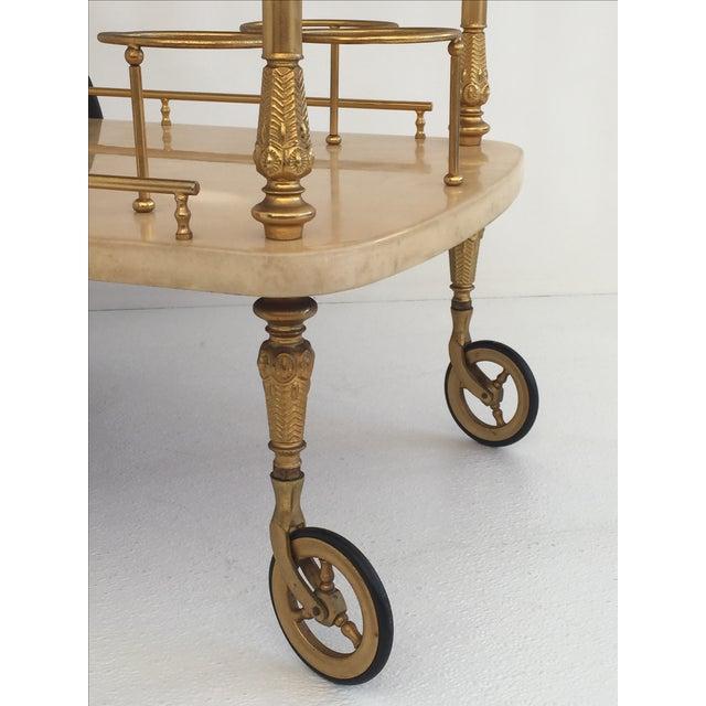 Aldo Tura Aldo Tura Parchment Bar Cart Drinks Trolley For Sale - Image 4 of 11