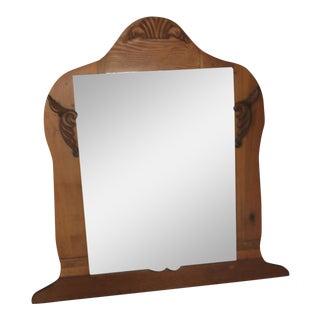 Primitive 19th to Early 20th Century Art Nouveau Embellishments Bureau Mirror