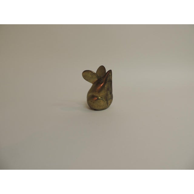 Vintage Brass Mouse Paper Weight - Image 2 of 4