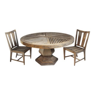 Vintage Outdoor Teak Dining Set