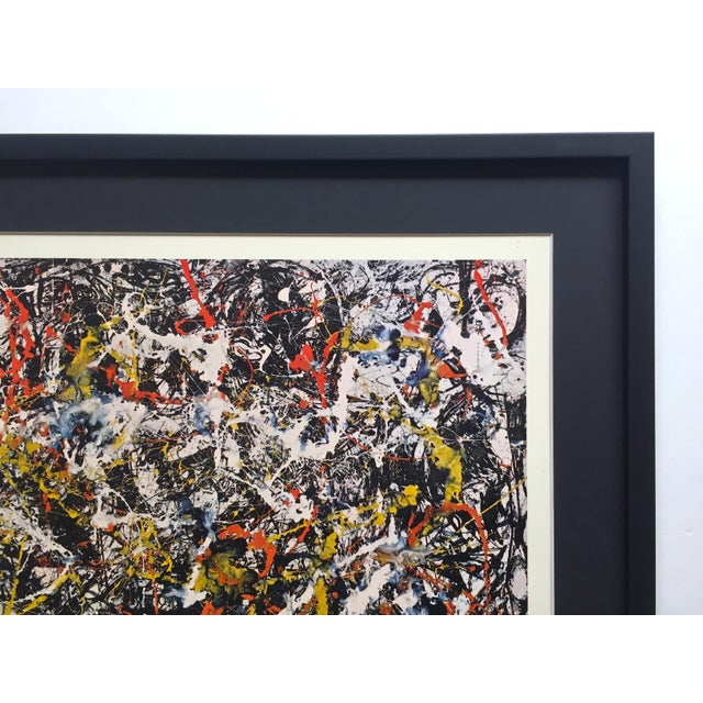 """Jackson Pollock Rare Vintage 1964 Mid Century Modern Framed Abstract Expressionist Lithograph Print """" Convergence """" 1952 For Sale - Image 9 of 13"""