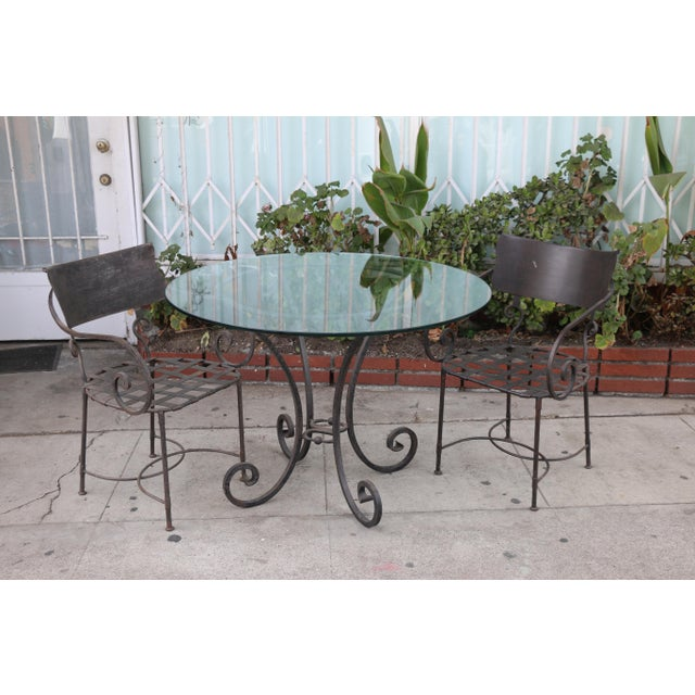 Metal Italian Wrought Iron Dining Set For Sale - Image 7 of 11
