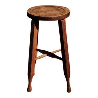 1930s Antique American Wooden Stool For Sale