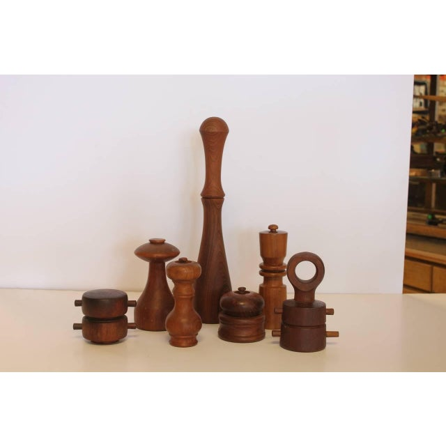 Collection of seven pepper mills designed by Quistgaard for Dansk Company.