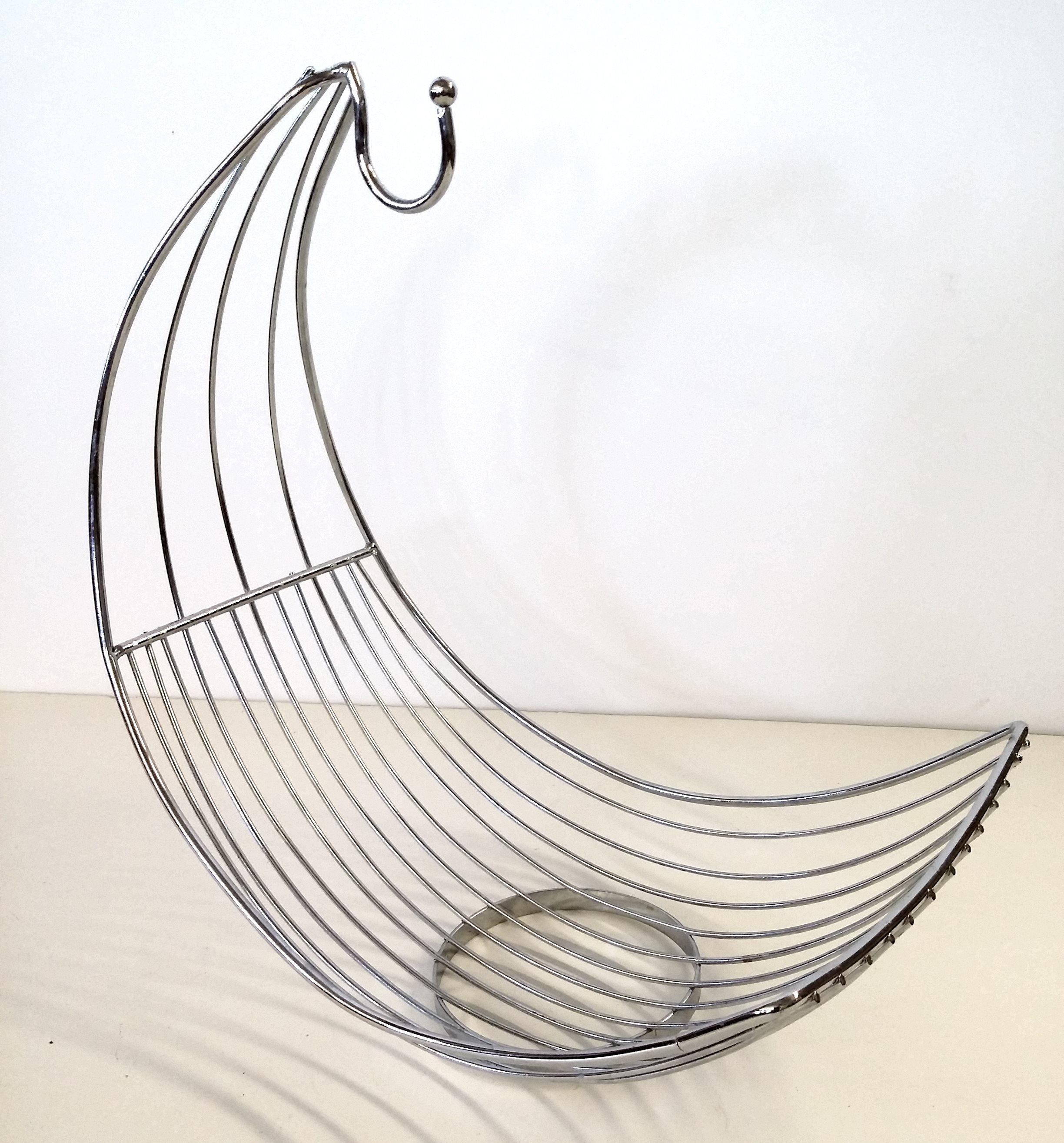 stainless steel banana hammock  u0026 fruit holder   image 5     stainless steel banana hammock  u0026 fruit holder   chairish  rh   chairish