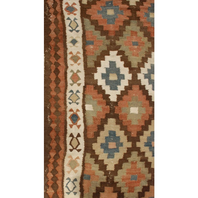 Islamic Early 20th Century Shahsavan Kilim Runner - 3′6″ × 9′ For Sale - Image 3 of 4