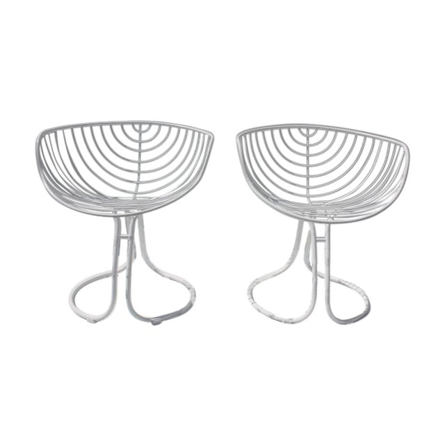 "Italian ""Pan Am"" Logo Chairs - A Pair - Image 1 of 11"
