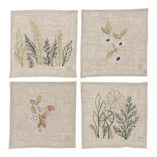 Spring Blossoms Cocktail Napkins - Set of 4