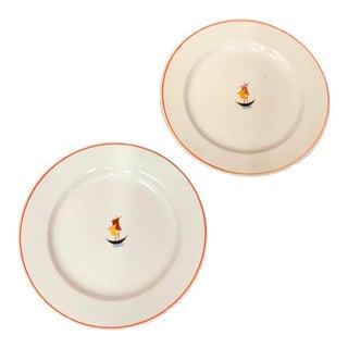 1935 Gio Ponti for S.C. Richard Ceramic Plates - Set of 2 For Sale