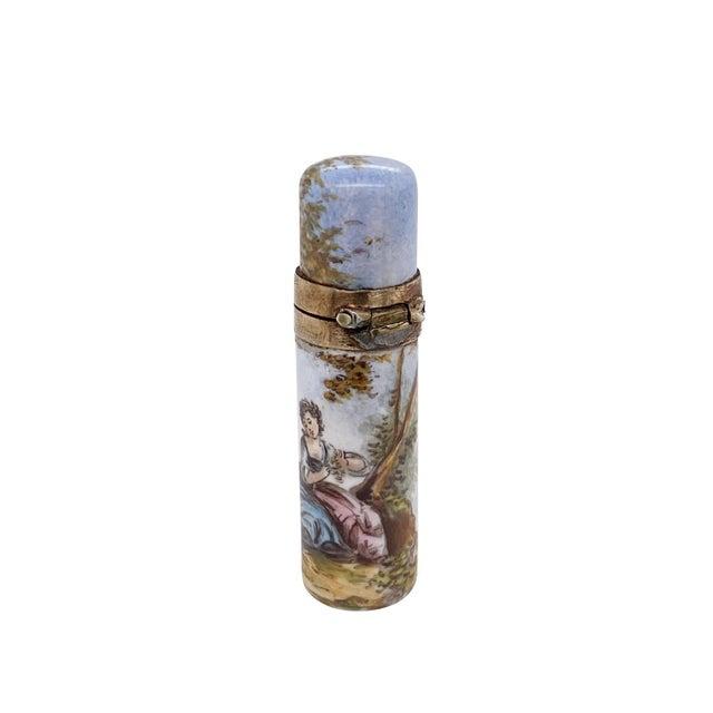 19th C. Vienna Enamel Miniature Perfume Bottle For Sale In Charleston - Image 6 of 6