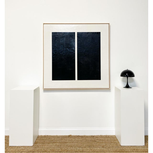 """2020s Exclusive John O'Hara """"Midnight Window, 1"""" Encaustic Painting For Sale - Image 5 of 7"""