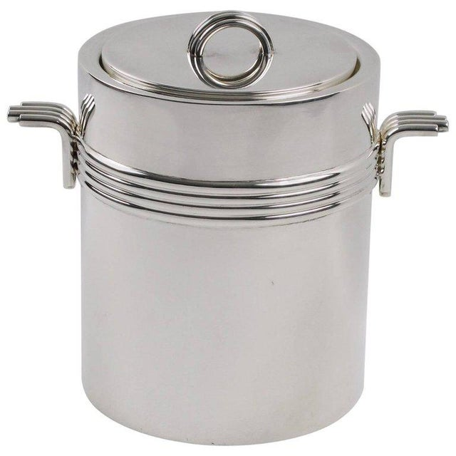 Christian Dior Mid-Century Modern Silver Plate Ice Bucket For Sale In Atlanta - Image 6 of 6