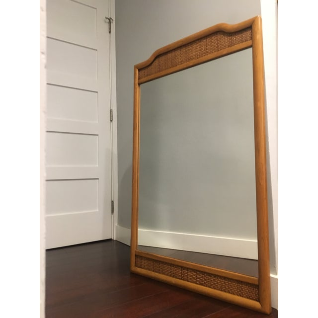 French Indochine Style Mid Century Pier / Console Mirror (4 Ft) For Sale - Image 11 of 12