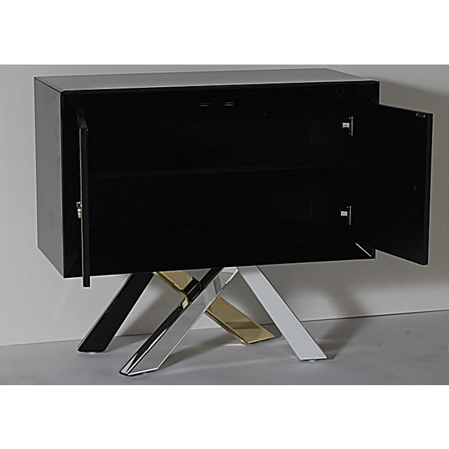 Mid-Century Modern Style Mirrored Cabinet - Image 3 of 4