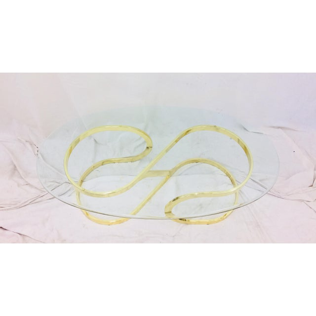 """Vtg Modern Milo Baughman """"Ribbon Candy"""" Coffee Table For Sale - Image 10 of 13"""