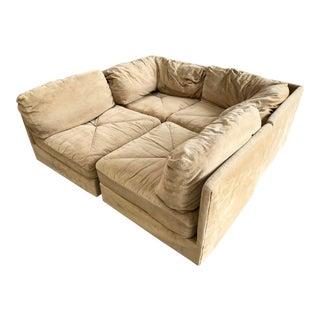 70′s Vintage 4pc Selig Modular Sectional Sofa Mid Century Modern Baughman Era For Sale