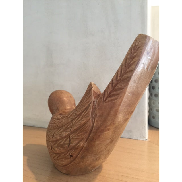 Wood Carved Bird Figurine - Image 6 of 9