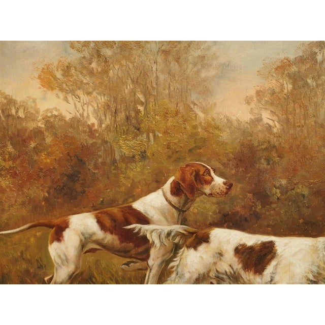 Textile Antique Hunting Dog Painting by Maurice Etienne Dantan For Sale - Image 7 of 11
