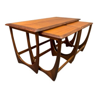 "Vintage Mid Century Modern Teak ""Astro"" Coffee & Nesting Tables by G Plan - Set of 3 For Sale"
