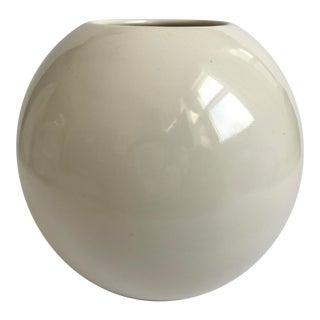 Modern Ivory Orb Sphere Vase