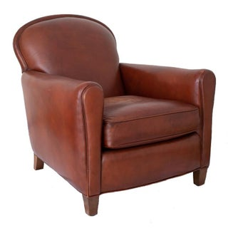 Lee Industries Chestnut Leather Chair Preview