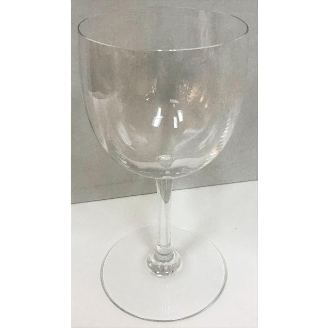Baccarat Montaigne Optic Crystal Wine Glasses Goblets- Set of 10 For Sale In West Palm - Image 6 of 13