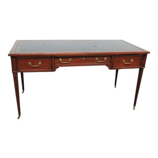20th Century Regency Directoire Style Leather Top Writing Desk For Sale