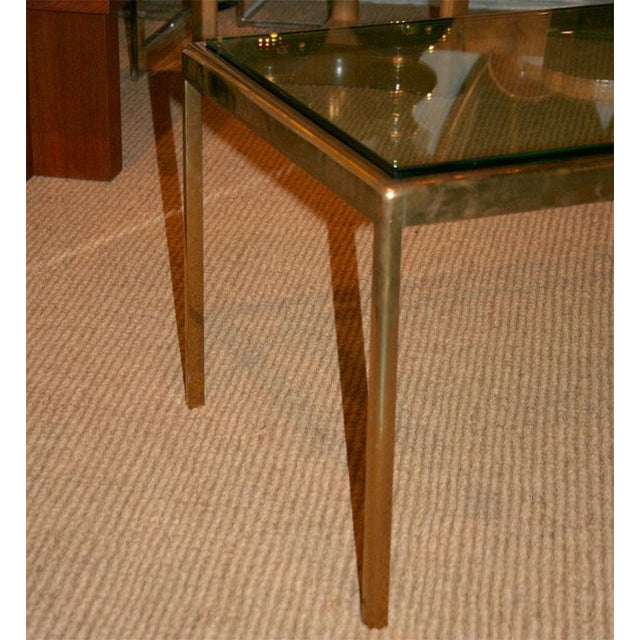 1970s Bronze and Bird's Beak Glass Top Terry Table for Scope Furniture For Sale - Image 5 of 5