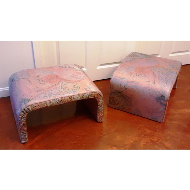 Waterfall Benches- a Pair For Sale - Image 4 of 13
