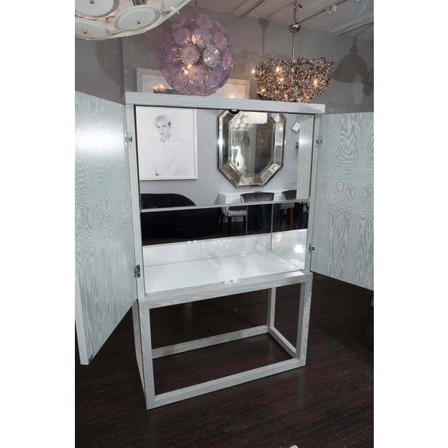 Custom Gray Cerused Bar For Sale - Image 9 of 10