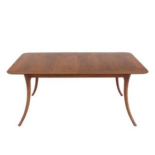 Sabre Leg Mid Century Modern Walnut Dining Table Gibbings Widdicomb For Sale