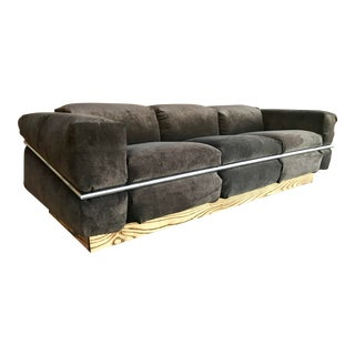 Restored Craft Associates Chrome Sofa For Sale