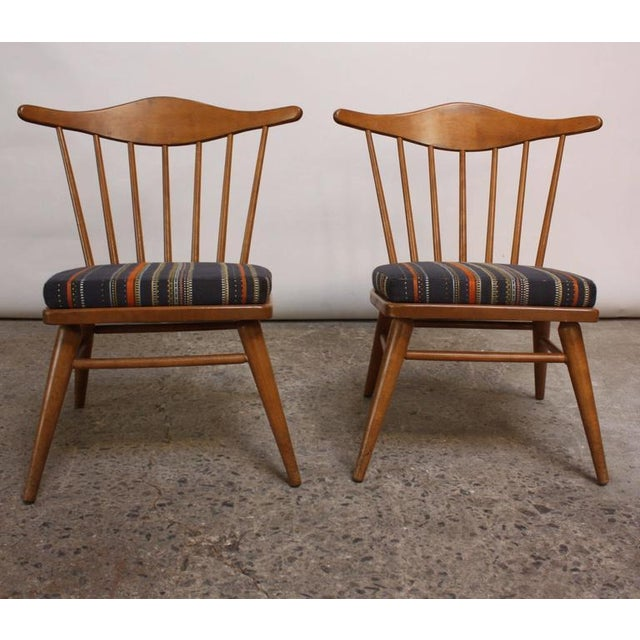 Mid-Century Modern 1950s Russel Wright for Conant Ball Spindle Back Accent Chairs - A Pair For Sale - Image 3 of 10