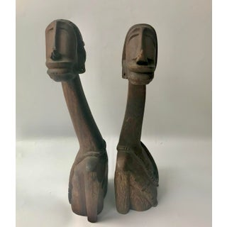 Vintage Mid-Century African Companion Wood Sculptures - A Pair Preview