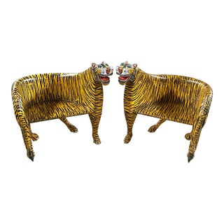 1970s Vintage Tiger Tub Chairs- a Pair For Sale