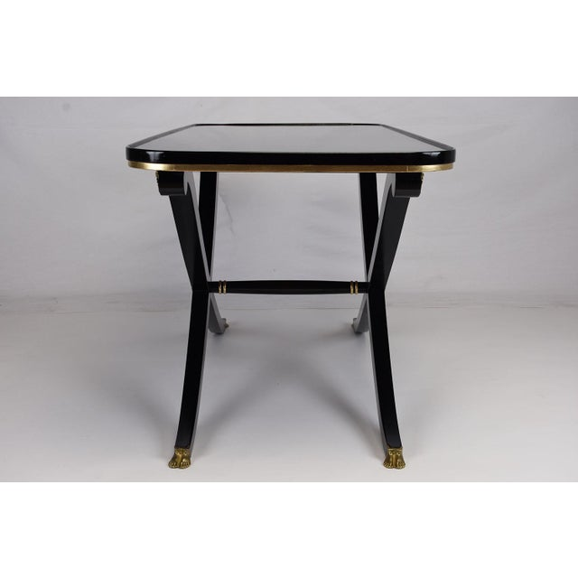 French Empire Style Ebonized Mahogany Coffee Table For Sale - Image 4 of 8