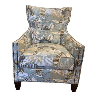 Modern Wesley Hall Neo Toile Chair For Sale