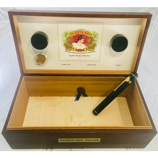 Brown 1980s Traditional Cuesta-Rey Cigar Humidor For Sale - Image 8 of 12