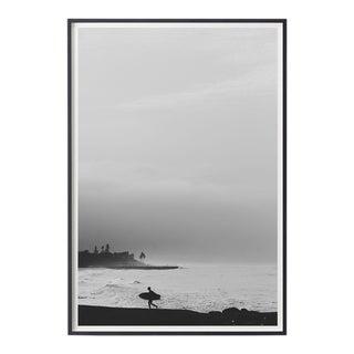 "Large Black & White Surfer Unframed Photograph - Coastal Photography - ""Days End"""