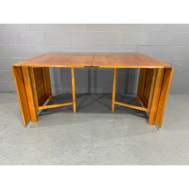 Brown Flamed Birch Maria Folding Dining Table by Bruno Mathsson for Karl Mathsson For Sale - Image 8 of 13