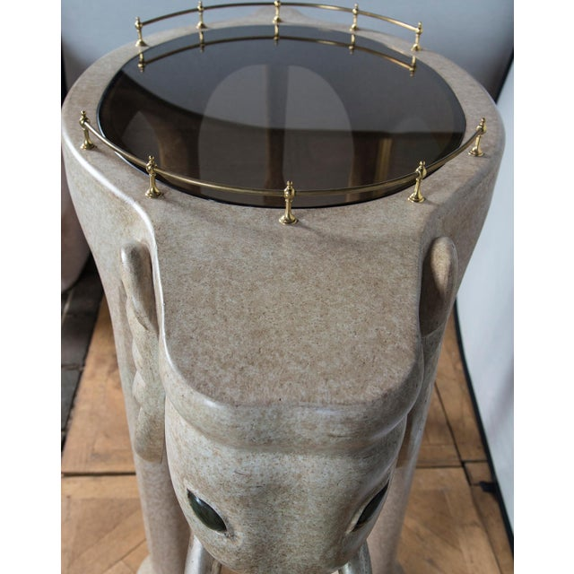 Elephant Rolling Bar Cart For Sale - Image 9 of 12