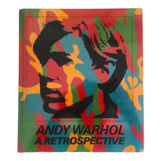""""""" Andy Warhol a Retrospective """" Rare Vintage 1989 1st Edition Museum of Modern Art Iconic Exhibition Hardcover Art Book For Sale"""