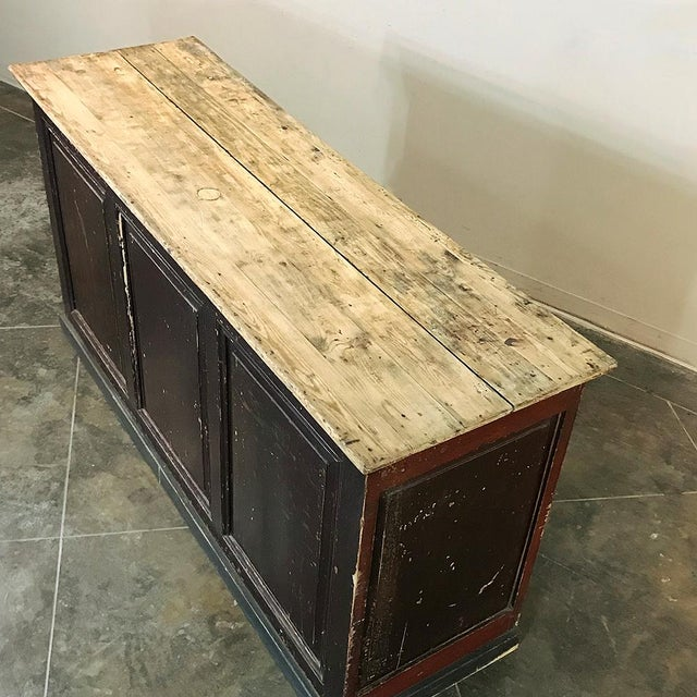 19th Century Rustic County French Store Counter For Sale - Image 9 of 11
