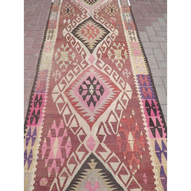 Vintage Turkish Runner Rug For Sale In Raleigh - Image 6 of 10