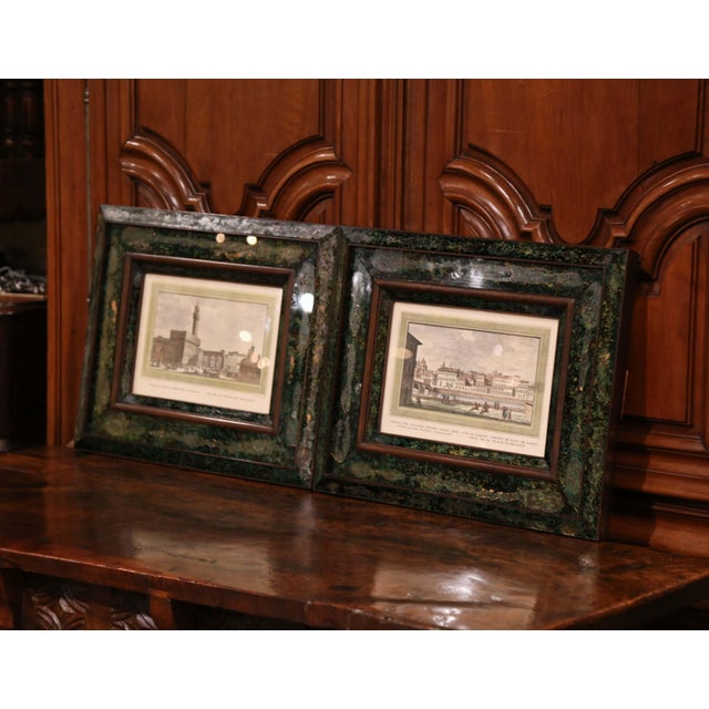 Pair of 19th Century Italian Florence Engravings in Ornate Églomisé Frames For Sale - Image 4 of 13