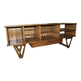 Lane Mid-Century Modern Customized Entertainment Console For Sale