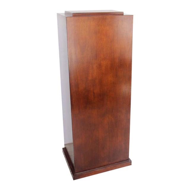 Vintage Mahogany Pedestal For Sale