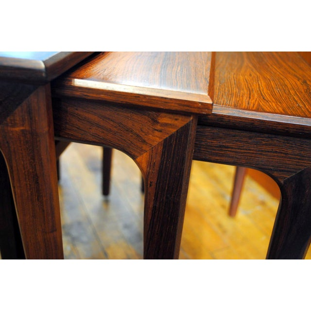 Danish Rosewood Nesting Tables - Set of 3 - Image 6 of 9