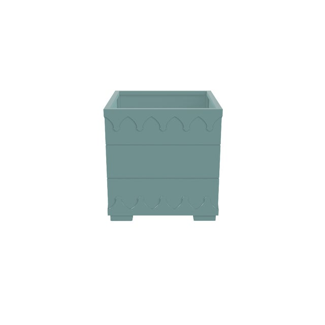 Oomph Oomph Ocean Drive Outdoor Planter Small, Green For Sale - Image 4 of 5